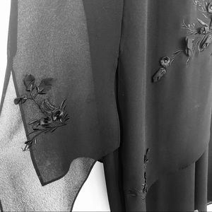 Jessica Palazzo Pants Sheer Black Carwash Skirt